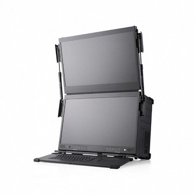 128 cores, 4 TB of RAM and 6 monitors.  These are Mediaworkstation a-X1P and a-X2P suitcase laptops