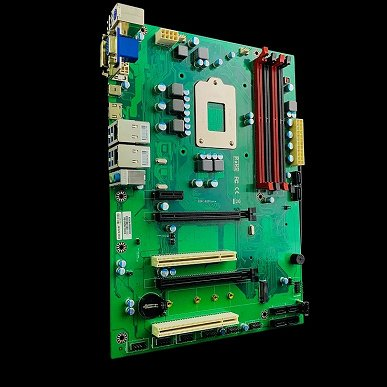 The processor socket on the Enctec Rev.B250 board is located on the back side