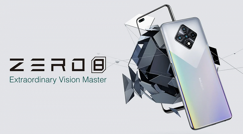 The world's first smartphone with a 48-megapixel selfie camera.  Infinix Zero 8 introduced