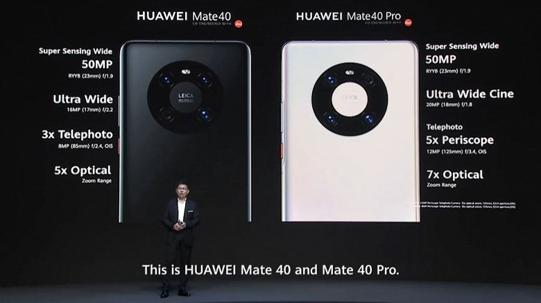 The most powerful Kirin processor, 17x optical zoom, EMUI 11. Huawei Mate 40 smartphones presented