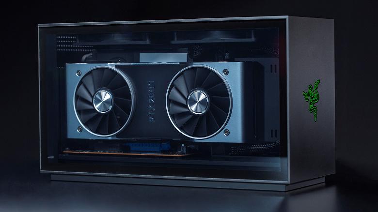 Razer Tomahawk Gaming Desktop Compact Modular PC Supports GeForce RTX 3080