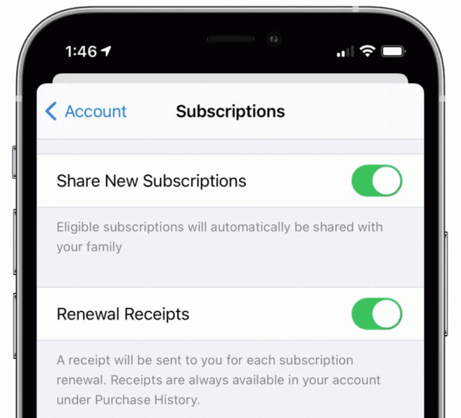 Apple adds subscription-sharing to Family Sharing