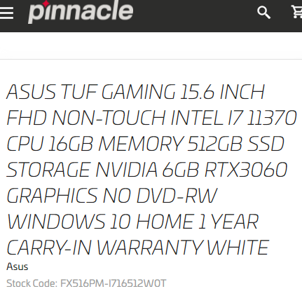 Intel Core i7-11370H Tiger Lake-H processor spotted in ASUS TUF laptop for € 1,400