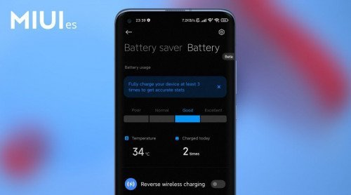 MIUI 12.5 helps determine the current battery health